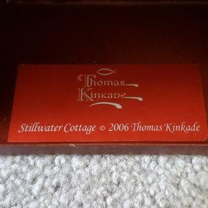 Thomas Kinkade Wall Art - Thomas Kinkade Stillwater Cottage wooden shelf